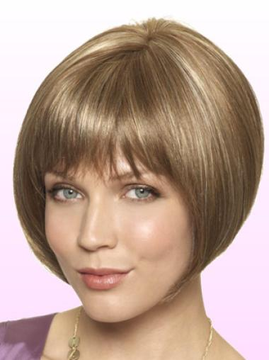 Blonde Lace Front Synthetic Ideal Short Wigs