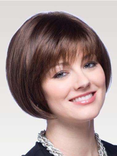 Hairstyles Auburn Straight Chin Length Bob Wigs