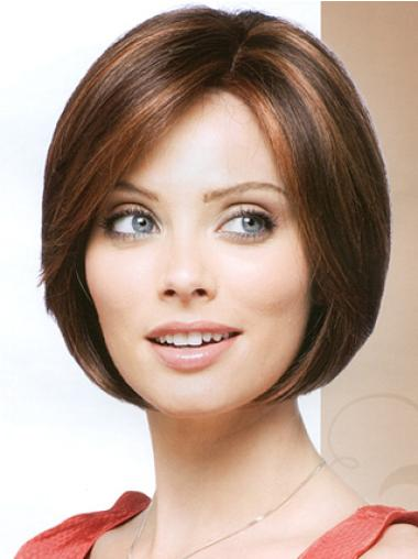 Soft Auburn Straight Chin Length Bob Wigs
