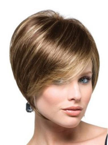High Quality Brown Straight Short Bob Wigs