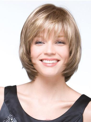 Tempting Blonde Straight Chin Length Bob Wigs