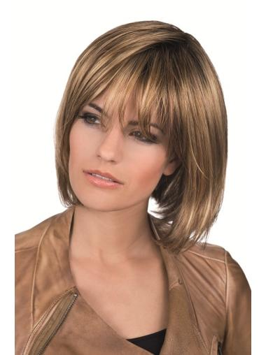 Stylish Lace Front Straight Chin Length Bob Wigs