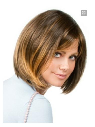 Glamorous Blonde Straight Chin Length Bob Wigs Bob