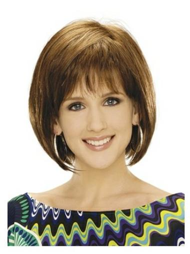 Comfortable Blonde Straight Chin Length Bob Wigs