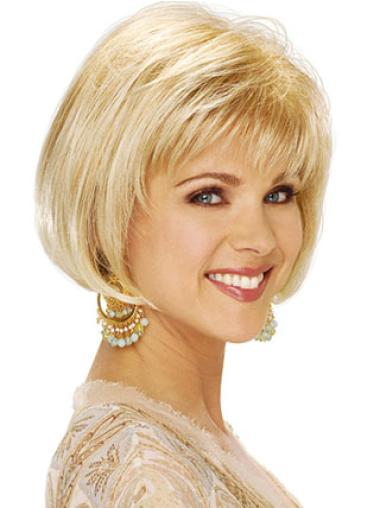 Trendy Blonde Straight Short Classic Wigs