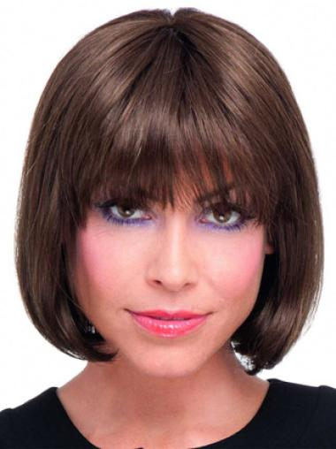 Durable Auburn Lace Front Chin Length Wigs For Cancer