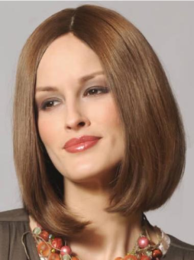 Refined Lace Front Straight Shoulder Length Remy Human Lace Wigs