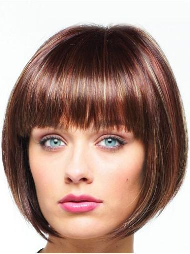 Beautiful Auburn Lace Front Chin Length Celebrity Wigs