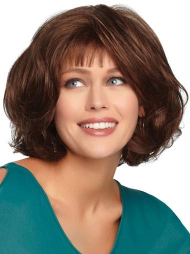 Popular Synthetic Monofilament Wavy Wigs For Cancer
