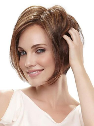 Cosy Brown Straight Chin Length Bob Wigs