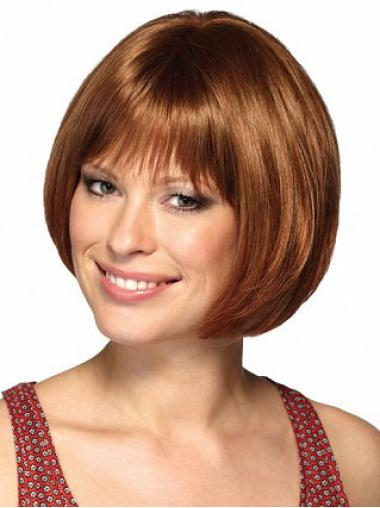 No-fuss Auburn Straight Short Bob Wigs
