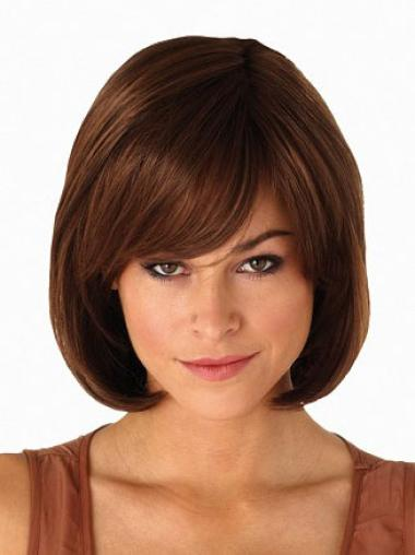 Gorgeous Auburn Straight Chin Length Bob Wigs