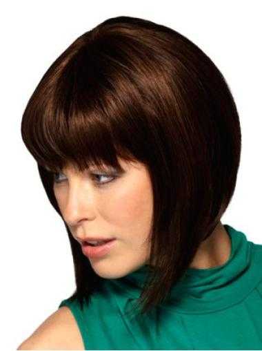 Fashion Auburn Straight Chin Length Bob Wigs
