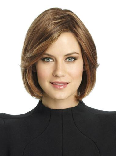 Modern Monofilament Straight Chin Length Lace Wigs