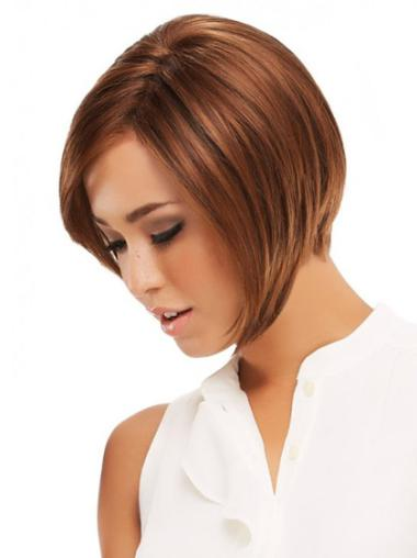 Affordable Monofilament Straight Chin Length Lace Front Wigs For Cancer