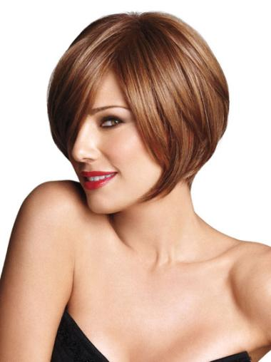 New Brown Straight Short Bob Wigs