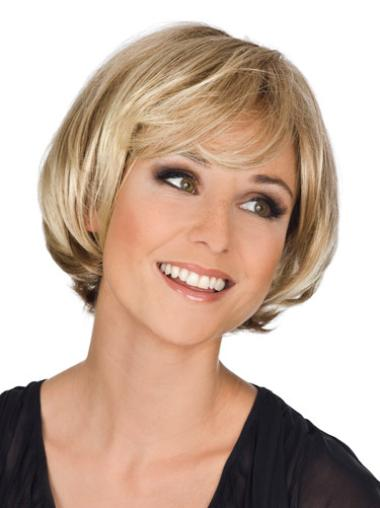 Blonde Wavy Synthetic Popular Medium Wigs