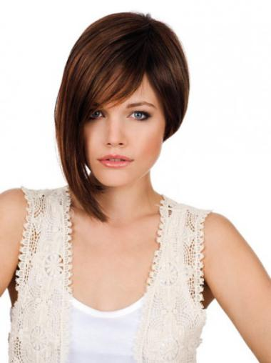 Graceful Monofilament Straight Chin Length Lace Wigs