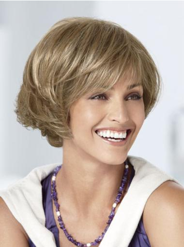 Preferential Blonde Wavy Short Bob Wigs