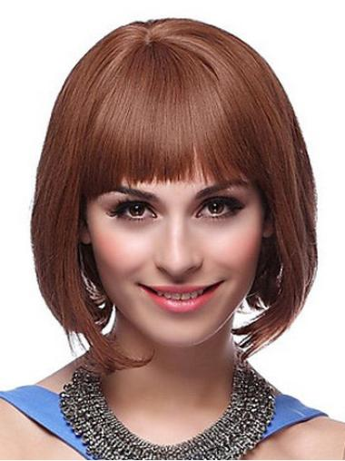 Great Auburn Straight Chin Length Bob Wigs