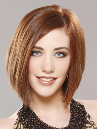 Modern Auburn Lace Front Chin Length Remy Human Lace Wigs