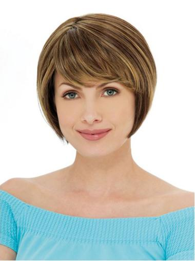 Ideal Auburn Straight Short Bob Wigs