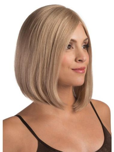 Style Blonde Lace Front Chin Length Remy Human Lace Wigs