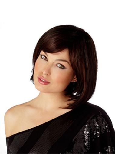 Incredible Auburn Straight Chin Length Bob Wigs