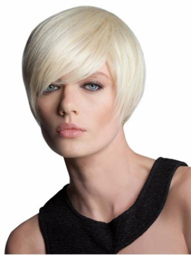 Convenient Blonde Straight Short Bob Wigs