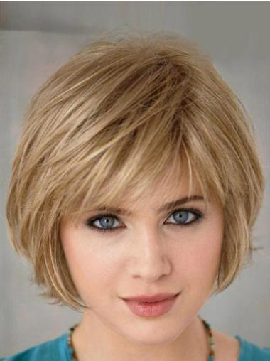 Stylish Blonde Straight Short Bob Wigs