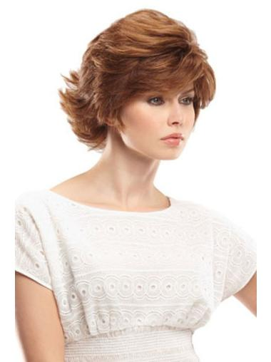 Fabulous Monofilament Wavy Chin Length Wigs For Cancer