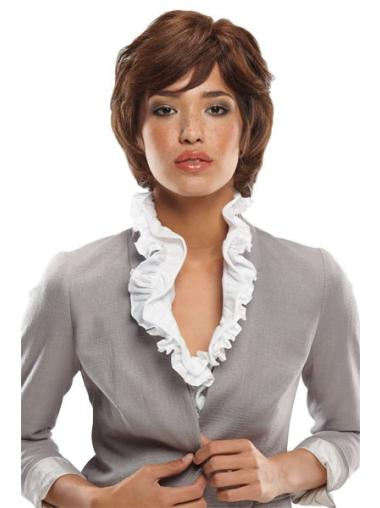 Pleasing Monofilament Wavy Chin Length African American Wigs