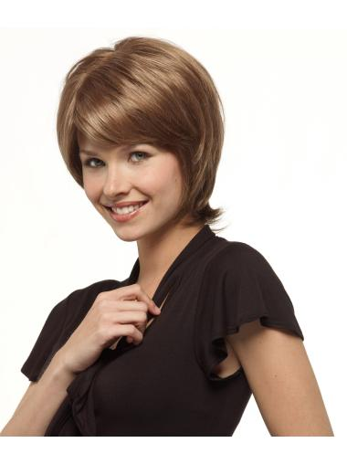 Incredible Brown Straight Short Bob Wigs