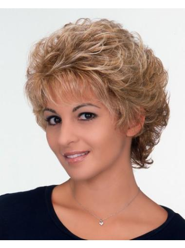 Convenient Blonde Curly Wigs For Cancer