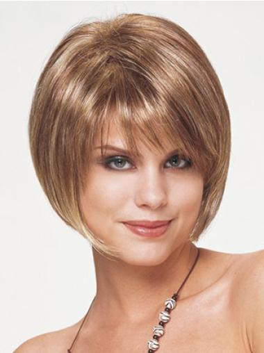 Hairstyles Straight Bobs Blonde Short Wigs