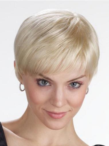Blonde Lace Front Synthetic Graceful Short Wigs