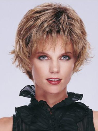 Blonde Wavy Synthetic Comfortable Short Wigs