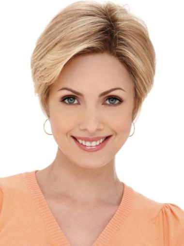 Blonde Monofilament Synthetic Incredible Wigs For Cancer