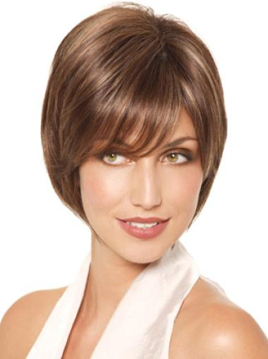 Monofilament Straight Chin Length Lace Wigs