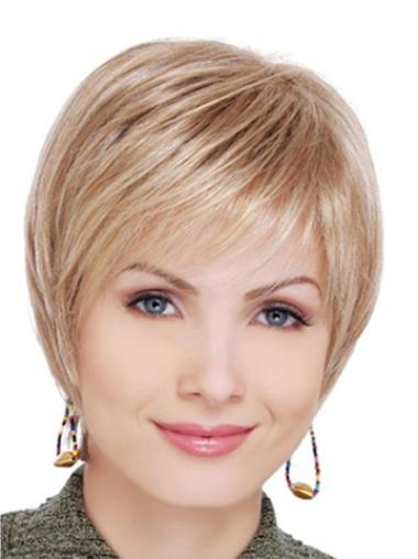Blonde Lace Front Synthetic Soft Short Wigs