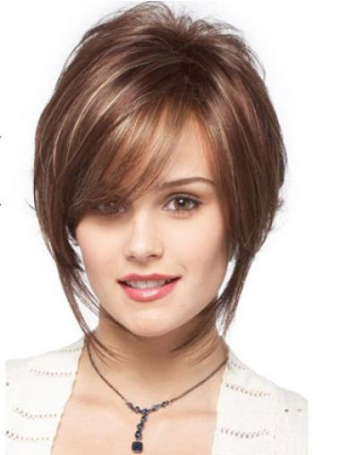 Brown Designed Bobs Wavy Short Wigs