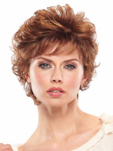 High Quality Auburn Wavy Short Classic Wigs