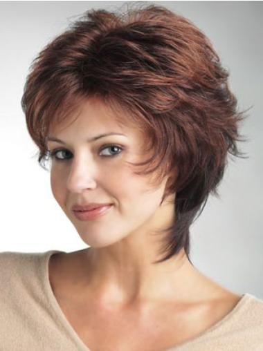 Sassy Monofilament Layered Wavy Wigs For Cancer