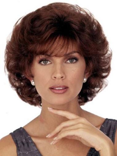 Modern Auburn Curly Chin Length Classic Wigs