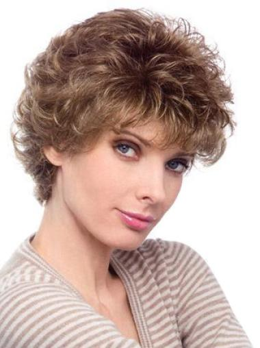 Fashionable Auburn Curly Short Classic Wigs