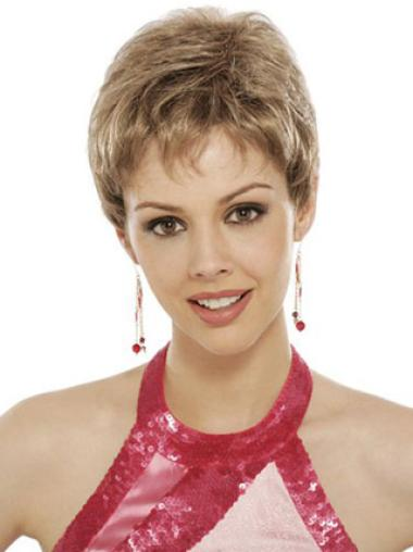 Blonde Wavy Synthetic Style Short Wigs