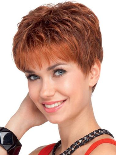 Lace Front Fashion Boycuts Wavy Wigs For Cancer