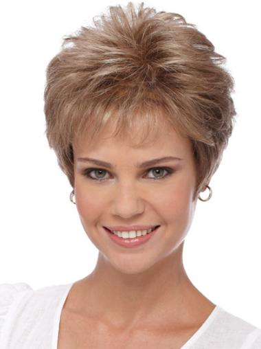 Boycuts Wavy Synthetic Comfortable Short Wigs