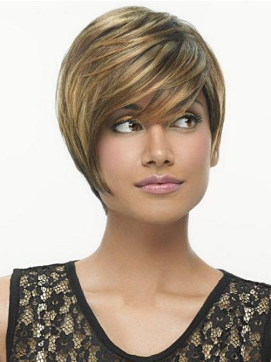 Brown Straight Synthetic Tempting Short Wigs