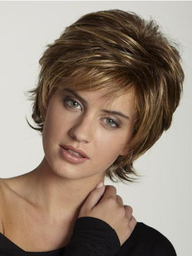 Brown Fabulous Layered Straight Short Wigs